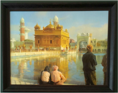Museum of Spirituality Art A4) THE GOLDEN TEMPLE Artist – Chuck Marshall                                   Giclee on Canvas