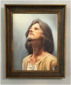Museum of Spirituality Art ) PORTRAIT OF JESUS Artist – Chuck Marshall			Oil on Canvas